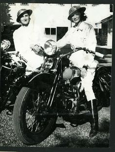 The Motor Maids, a national club of women who rode all over US and Canada. Formed in 1940.