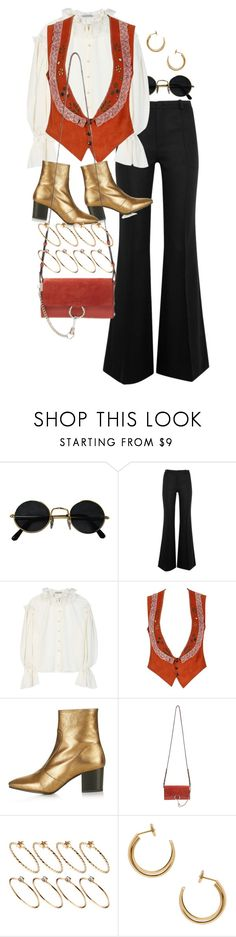 """Untitled #10811"" by nikka-phillips ❤ liked on Polyvore featuring Bouchra Jarrar, Vika Gazinskaya, Topshop, Chloé, ASOS and Maison Margiela"