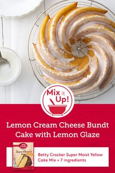 Expert tip: Mix up this basic recipe with different citrus fruits, like orange or lime. Also, grate the citrus peel right into the bowl with the other ingredients to keep all those bright citrus flavors from drying out in the air. Moist Yellow Cakes, Yellow Cake Mixes, Cupcake Recipes, Cupcake Cakes, Cupcakes, Somali Recipe, Citrus Fruits, Basic Recipe, Poke Cakes