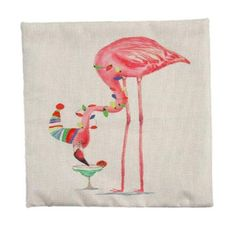 Piccocasa Red-crowned Crane Print Zpppered Cushion Pillow Cover Case 45 x 45cm