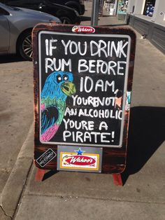 the pirate life // fun sign for pool bar  pirate theme parties #argh #matey