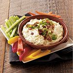 Gruyere-Bacon Dip Recipe | MyRecipes.com  Substitute non-fat sour cream for mayo.