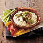 Gruyere-Bacon Dip Recipe | MyRecipes.com  Substitute non-fat sour cream for mayo.