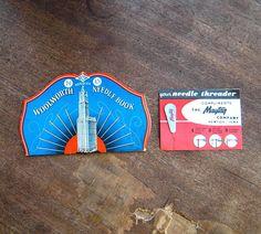 Brilliant Blue Vintage Woolworth Sewing Needle Book  Maytag