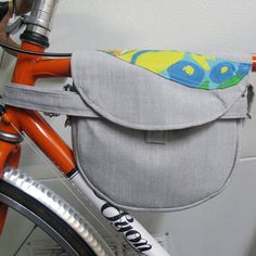 Bike Bag made with Vintage and Upcycled Fabric by BikeDailyDesign, $55.00
