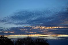 HAPPY LITTLE CLOUDS © Stefanie Neumann | Google+:  Sky Scapes at the blue hour in Autumn.