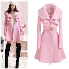 Women's Fashion Elegant Slim Fit Long Coat Outwear Overcoat-Coats-Shop DRESSLINK.COM - The world's premier online fashion destination | DRESSLINK.COM | Women's designer clothes, shoes, bags & accessories