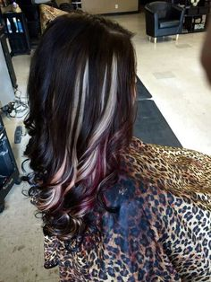 All over black with carmel brown and blonde peekaboo highlights mocha brown with blonde and red violet peekaboos perfect pmusecretfo Choice Image