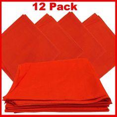 "Orange Bandanas - Solid Color 27"" x 27"" (12 Pack)"