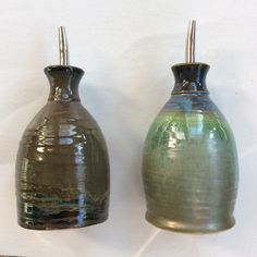 Brian Breider Ceramic Oil and Balsamic Holders/Pourer