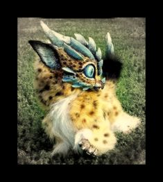 SOLD (Someof the first creatures ever made!) Hand Made Poseable Baby Cheetah Dragon. (c) Original Designs-