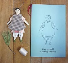 tiny rag doll : print edition by annwood on Etsy