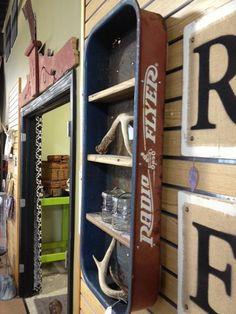@Emily Schoenfeld Schoenfeld Mooney @Kerry Aar Aar Dale Radio Flyer shelf for little boys room!