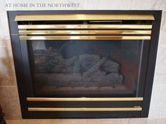 Five bucks to get rid of the brass on a gas fireplace. EASY!  Need to do...