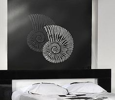Bathroom? Cutting Edge Stencils - Fossil Shell Wall Art Stencil