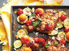 You can easily add vegetables, like broccoli or bell peppers to your harissa-topped sheet pan pork chops, for a heartier dinner. Try it tonight!