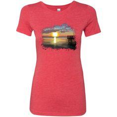 MBIT - Dock at Sunset * Next Level Ladies Triblend T-Shirt