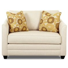 Tilly Upholstered Chair Sleeper With A Twin Mattress By Klaussner   Wolf  Furniture   Sofa Sleeper Pennsylvania, Maryland, Virginia