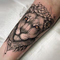 - Brittany Delgado - My list of best tattoo models Leo Tattoos, Couple Tattoos, Body Art Tattoos, Sleeve Tattoos, Tattos, Tattoo Sleeves, Small Tattoos, Female Lion Tattoo, Lion Arm Tattoo