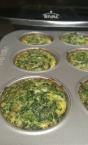 Parmesan Spinach Cakes. Have as a snack / mini meal