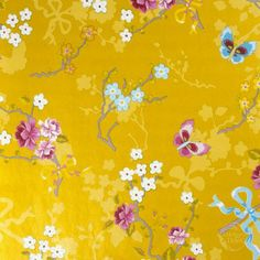Wallpaper behind Maria's bed #yellow_wallpaper #wallpaper