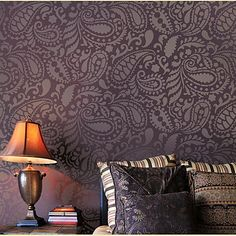 stencil, stencils, wall decor  I love paisley!