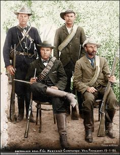 Because they were part of the Cape Colony ruled by Great Britain, these Boer soldiers were considered rebels and could be executed on the spot if captured Colorized History, Ww1 History, African History, Military History, Union Of South Africa, Army Day, New York Life, Military Pictures, Canadian History