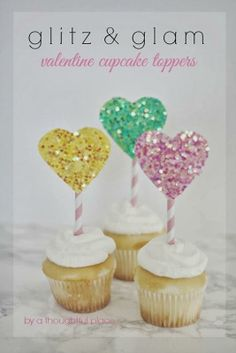 Glitz and Glam: Valentine Cupcake Toppers