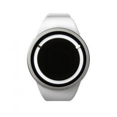 b9225d792e ZIIIRO White Snow Eclipse Swiss Super-LumiNova Silicone Watch Carteras De  Diseñador