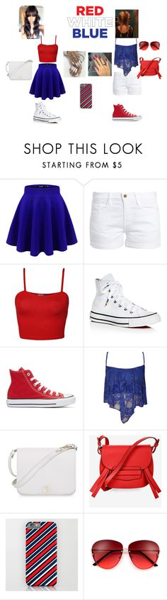 """Red, White, & Blue"" by bintiyussuf ❤ liked on Polyvore featuring Frame, WearAll, Converse, Furla, BCBGMAXAZRIA and 4thofjuly"