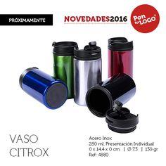 vasos de acero inoxidable Citrox, de 280 ml. 130 grs. Ideal para la montaña, camping, excursiones...