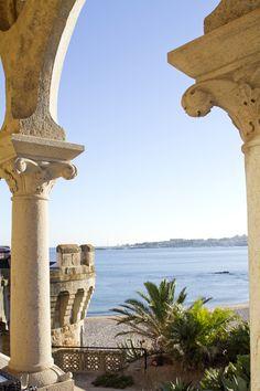 Castillo Forte da Cruz en Estoril con maravillosas vistas al mar. http://www.byarantxasandua.com/bodas/montse-y-eduardo/