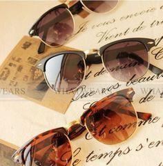 305bcc55fe9 Free Shipping Mens Womens Retro Half-frame Sunglasses Wayfarer Frame Glasses   XY-50