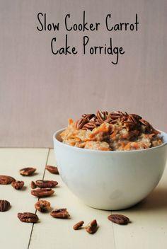 Slow Cooker Carrot Cake Porridge