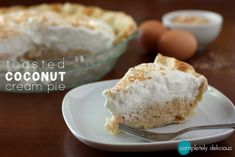 Toasted Coconut Cream Pie by @Annalise (Completely Delicious)