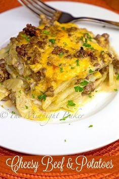Cheesy Beef & Potatoes Casserole