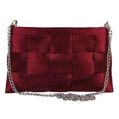 Seatbelt Bow Shoulder Bag Red