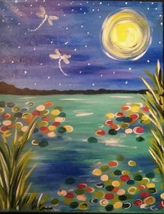 canvas and cocktails Moonlit Dragonflies - Google Search