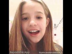 """Mackenzie Ziegler Singing """"story of my life"""""""