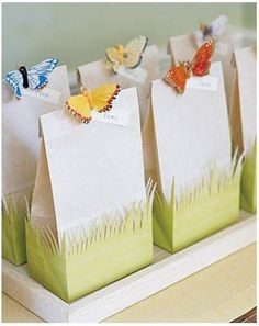 butterfly treat bags!!