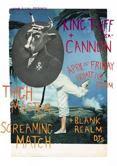 Brisbane's Screaming Match have done some wicked artwork for their upcoming support show with King Tuff!