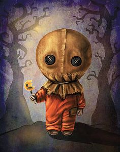 Scary Wall Art - Digital Art - Sam Trick R' Treat by Diana Levin Creepy Drawings, Halloween Drawings, Creepy Art, Creepy Halloween, Halloween Pictures, Halloween Horror, Vintage Halloween, Kawaii Drawings, Scary Witch