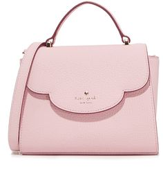 e0ef5db6863 Mini Makayla Top Handle Satchel by Kate Spade New York. A pebbled leather  Kate Spade New York satchel with a scalloped flap fastened by a concealed  push ...