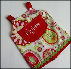Baby/Infant/Toddler Girl Pocket Sundress with rhinestones