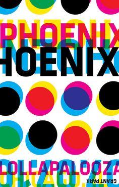 Lollapalooza Phoenix Band Poster