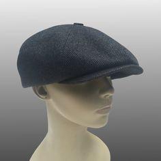 Summer Charlotte Moleskin Brushed Cotton Leather Peaky Blinders Bakerboy Paperboy Newsboy Flat Cap Hat 1920 1930 Bespoke XL Custom Made