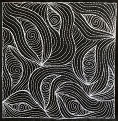 66. Free Motion Quilting: Oblivion, #411 - 365 Days of Free Motion Quilting Filler Designs