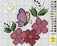 This photo is an unquestionably inspiring and great idea Cross Stitching, Cross Stitch Embroidery, Embroidery Patterns, Hand Embroidery, Crochet Patterns, Butterfly Cross Stitch, Cross Stitch Rose, Cross Stitch Flowers, Cross Stitch Designs