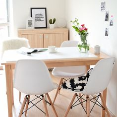 My dining corner, in progress after renovation. More photos on my blog.