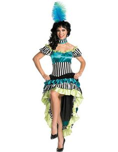 2fa80590c4 Women s Saloon Girl Costume - Can-can Cutie Adult Costume Saloon dancer or  French Moulin Rouge costume Costume Includes  Dress